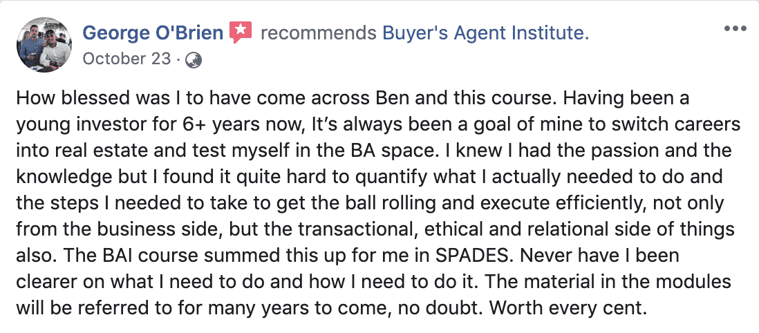george-o'brien-buyer-agent-review