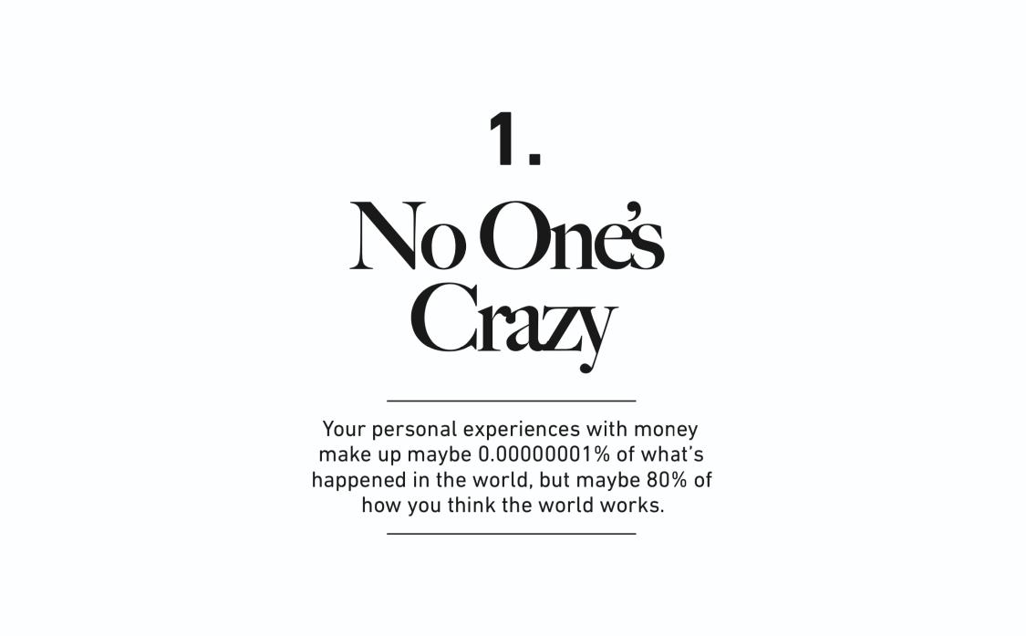 1. No One's Crazy