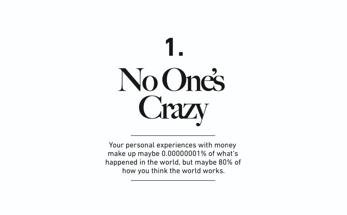 1. No One's Crazy