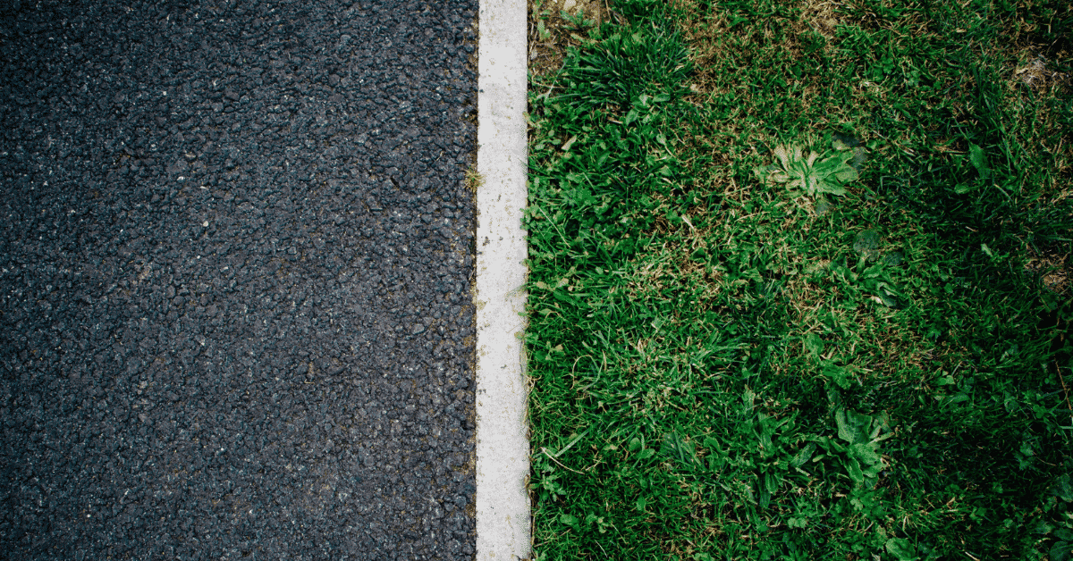 road and grass